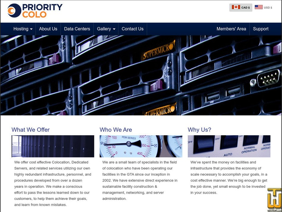 prioritycolo.com Screenshot