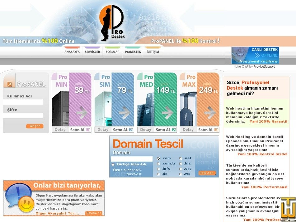 prodestek.net Screenshot
