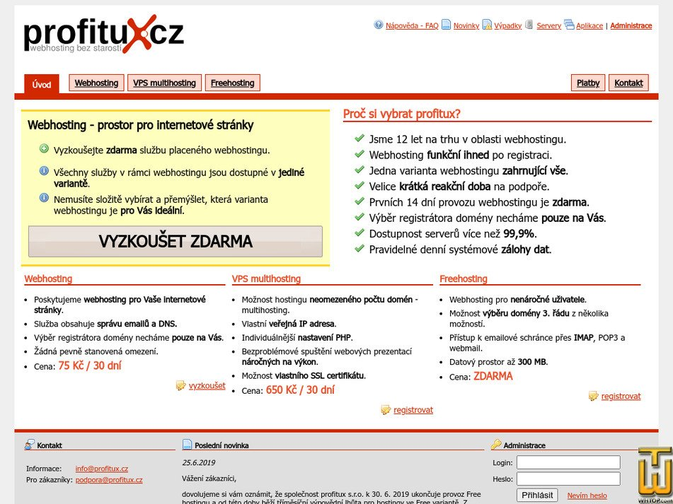 profitux.cz Screenshot