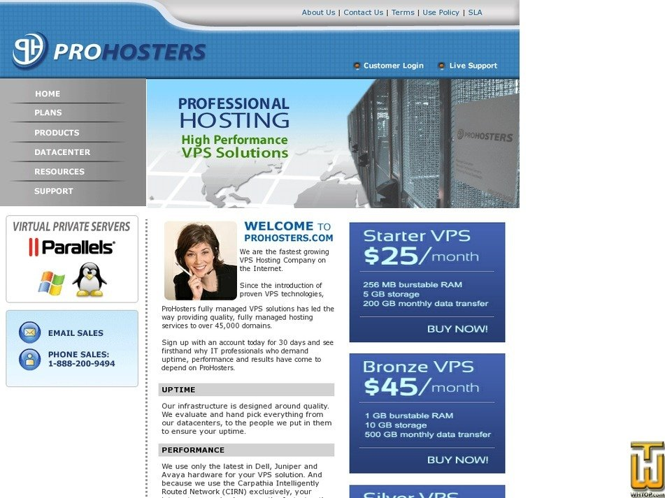 prohosters.com Screenshot