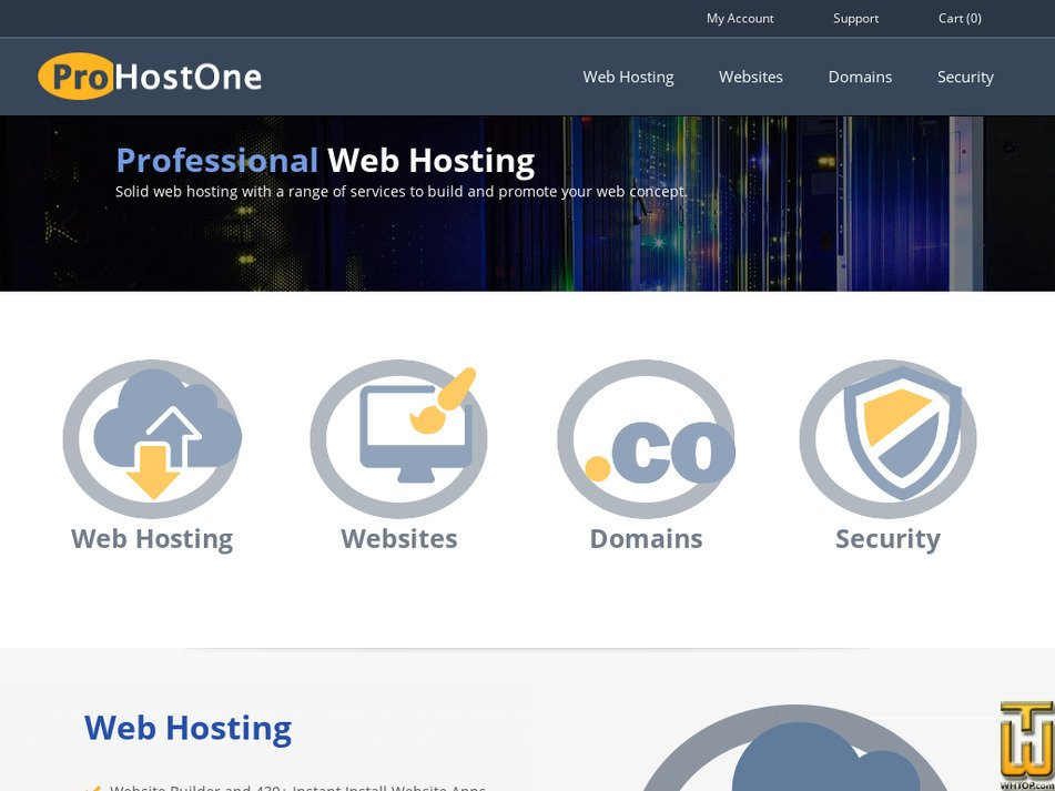 prohostone.net Screenshot