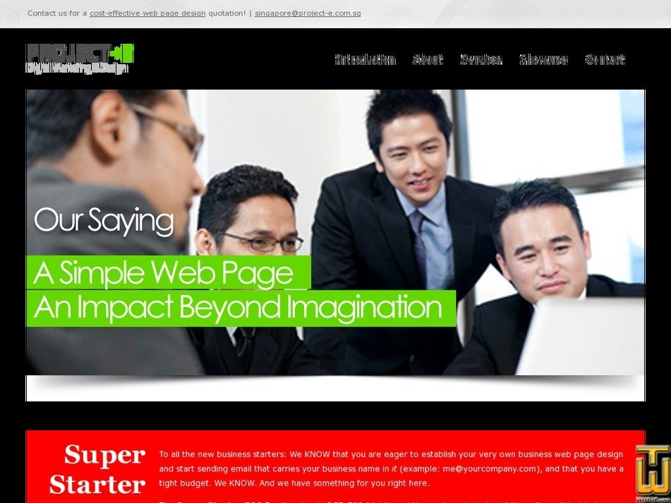 project-e.com.sg Screenshot