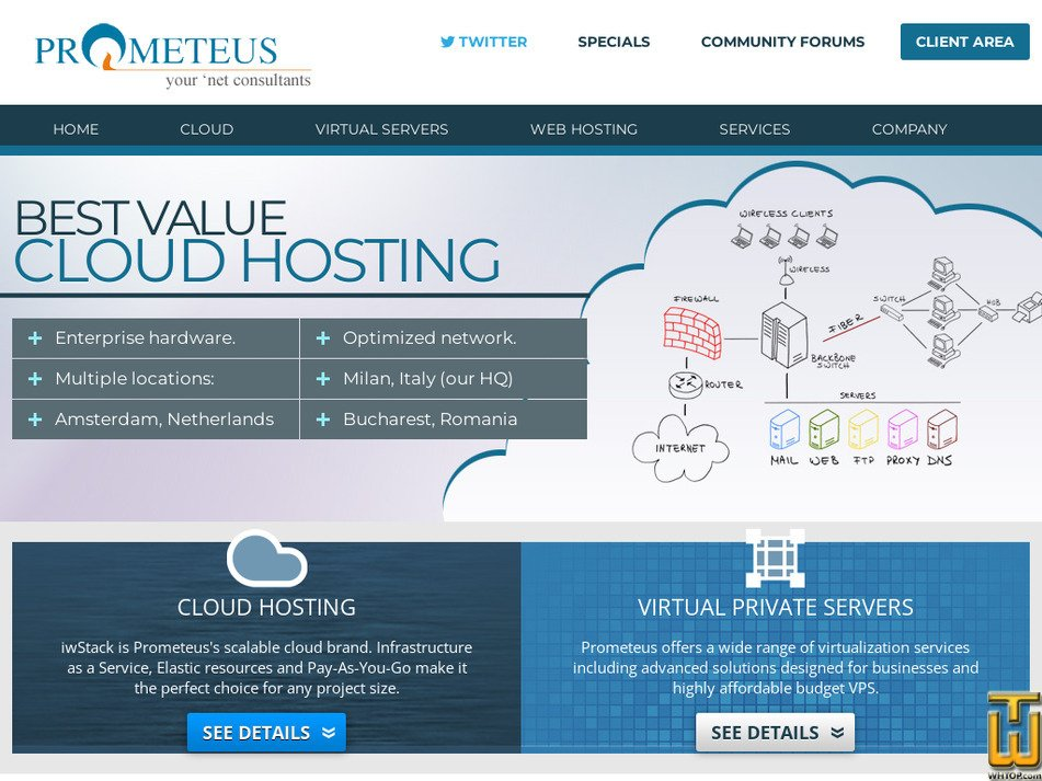 prometeus.net Screenshot