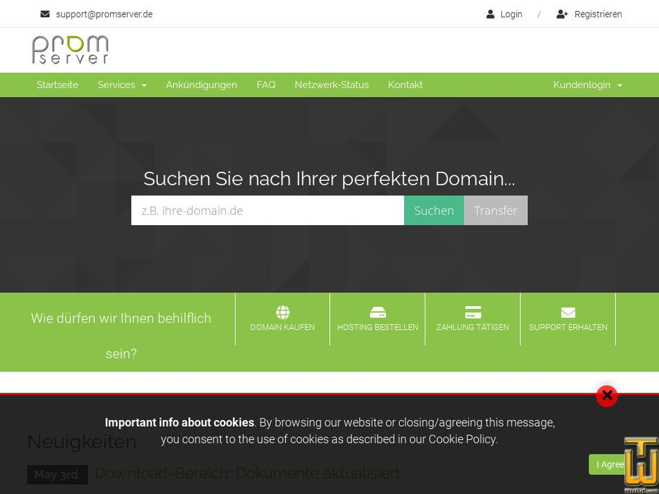 promserver.de Screenshot