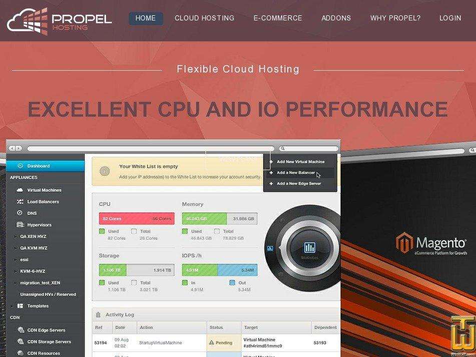 propelhosting.com Screenshot