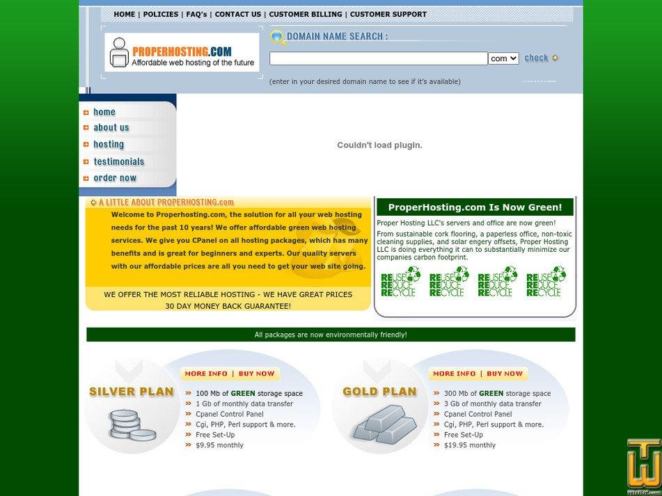 properhosting.com Screenshot
