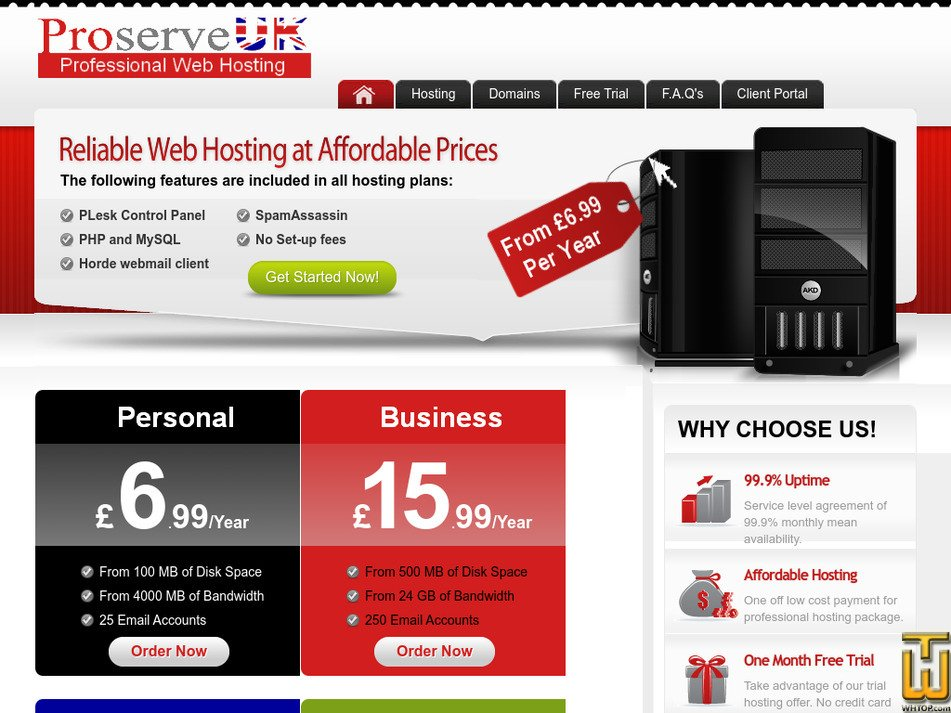 proserveuk.com Screenshot