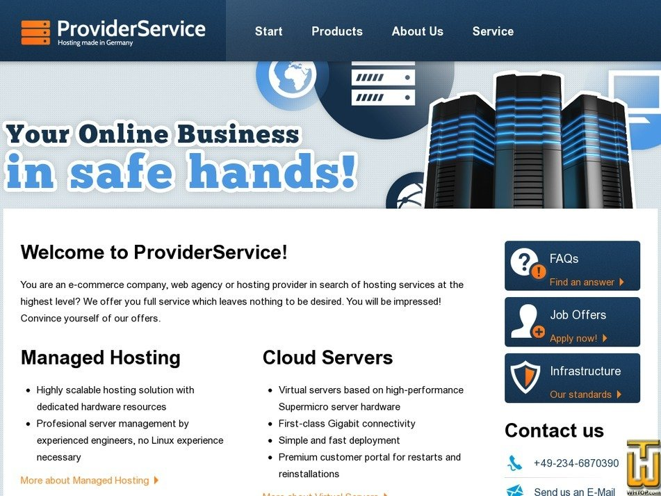 providerservice.com Screenshot