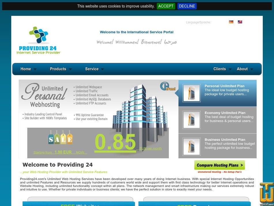 providing24.com Screenshot
