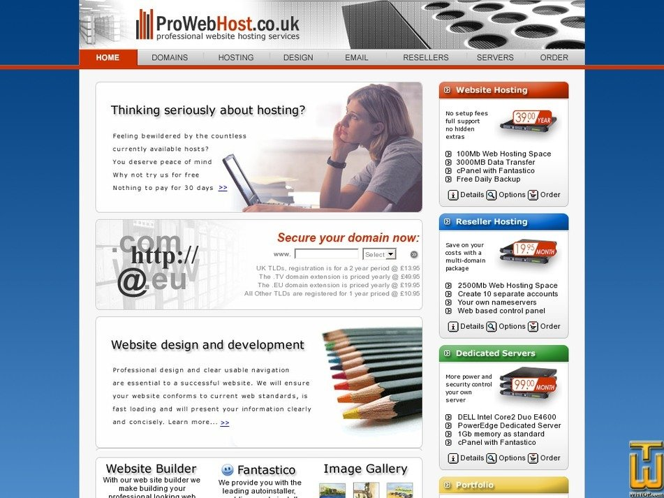 prowebhost.co.uk Screenshot