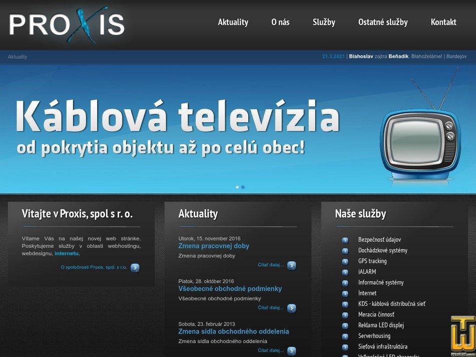 proxis.sk Screenshot