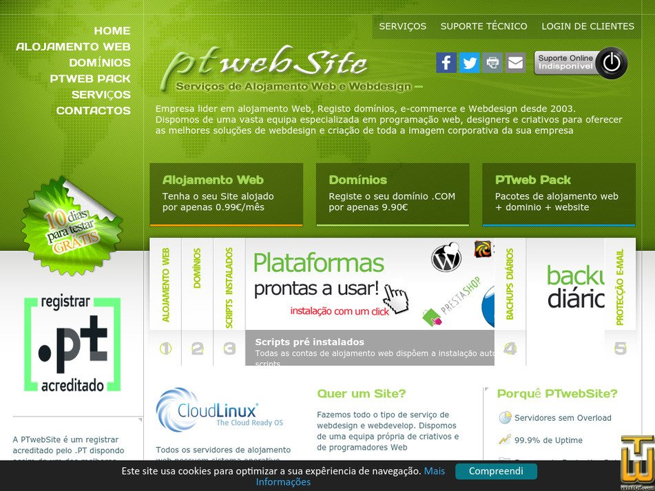 ptwebsite.com Screenshot