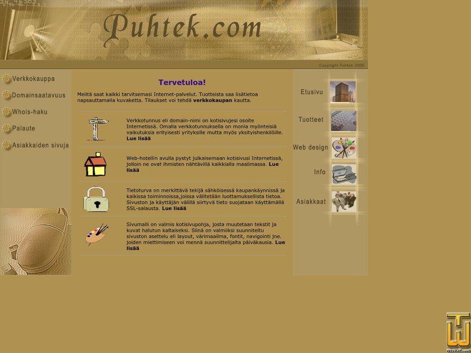 puhtek.com Screenshot