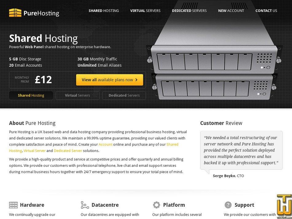 pure-hosting.com Screenshot