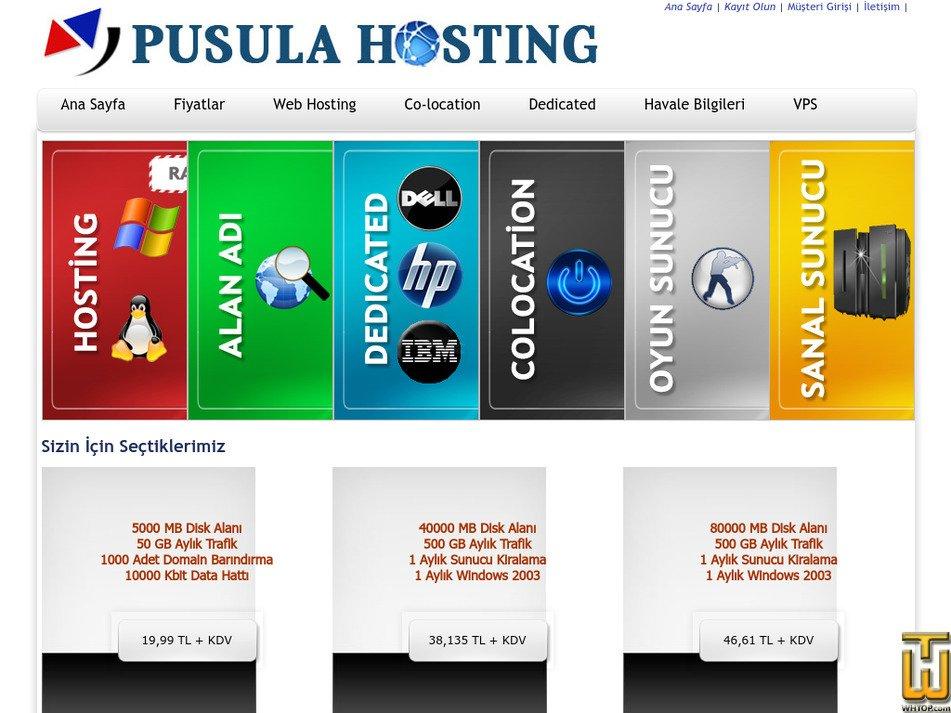 pusulahosting.com Screenshot
