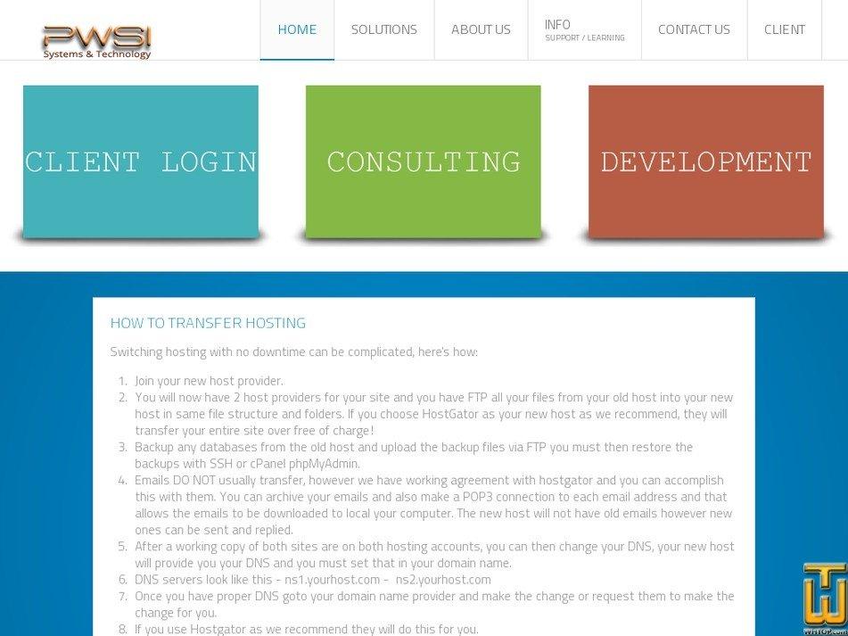 pws-i.com Screenshot