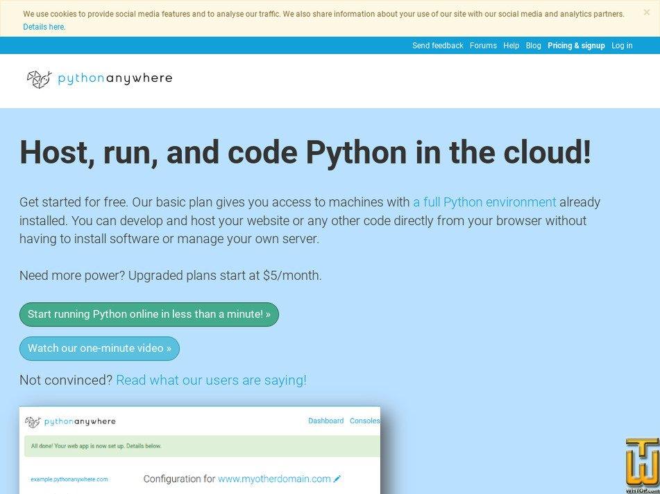pythonanywhere.com Screenshot
