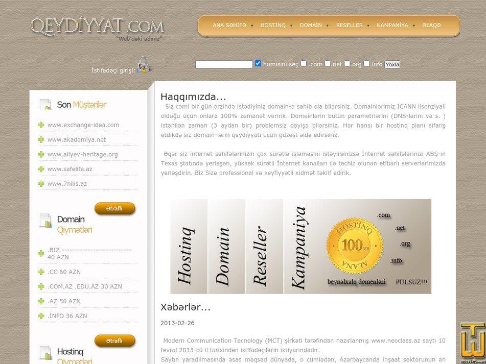qeydiyyat.com Screenshot