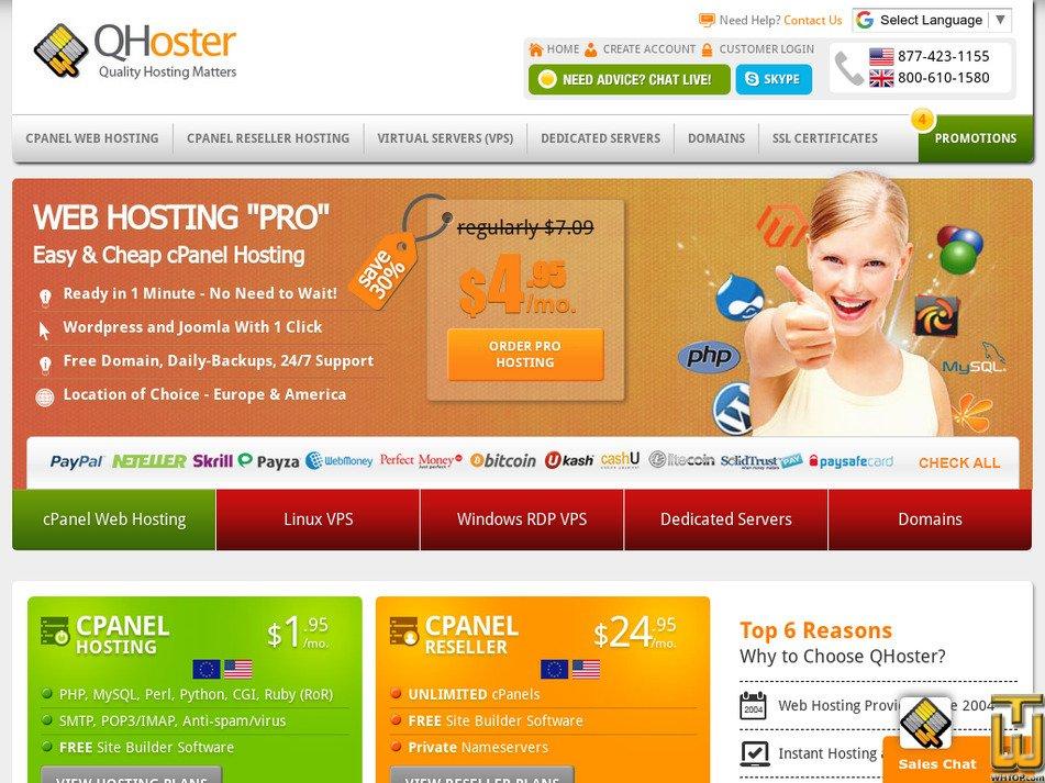 qhoster.com Screenshot