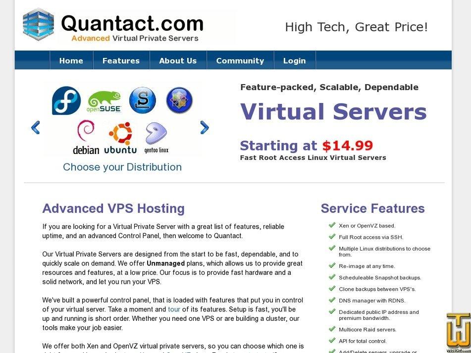 quantact.com Screenshot