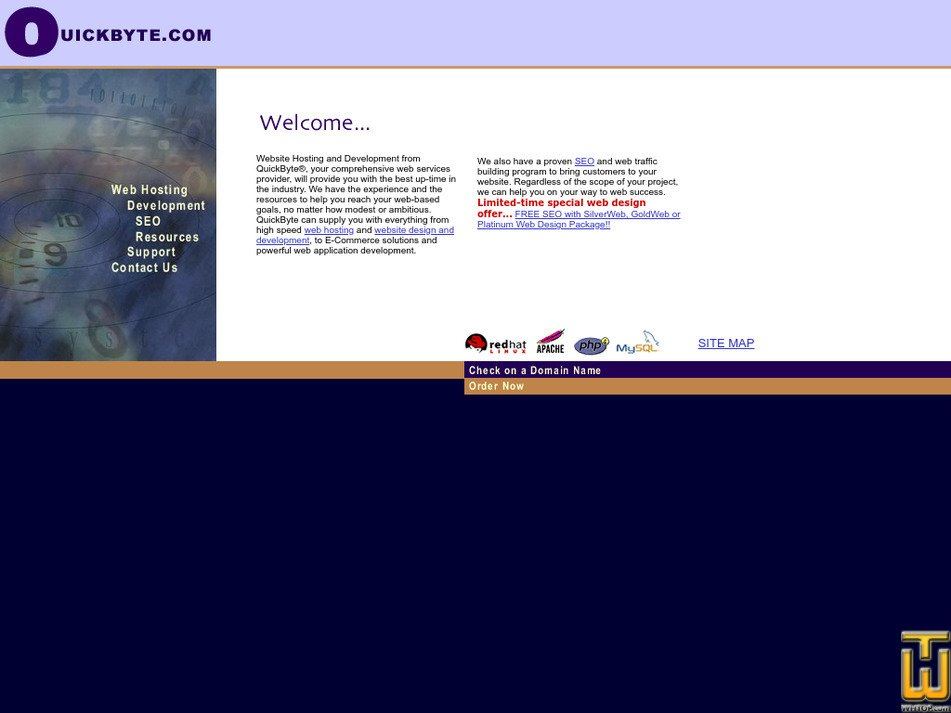 quickbyte.com Screenshot
