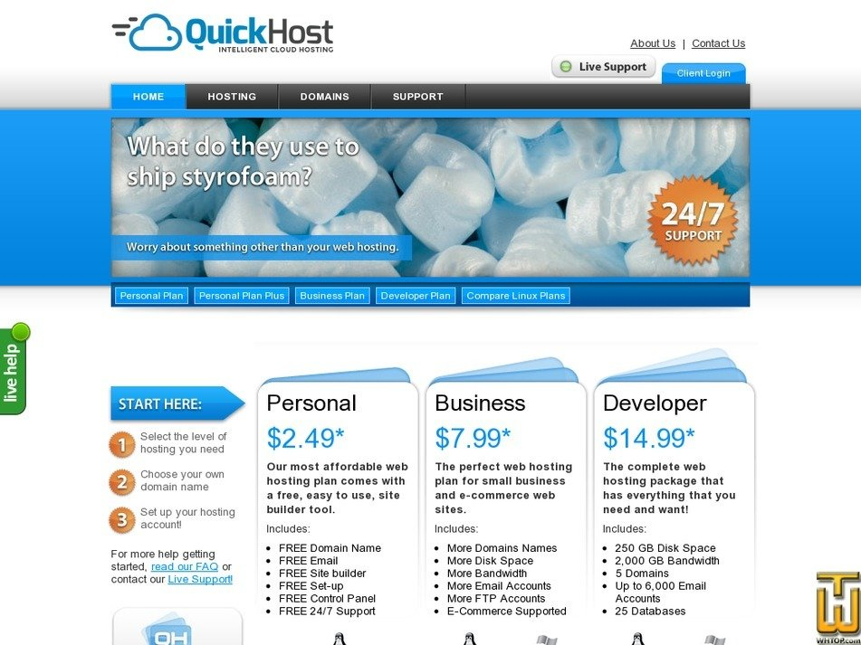 quickhost.com Screenshot