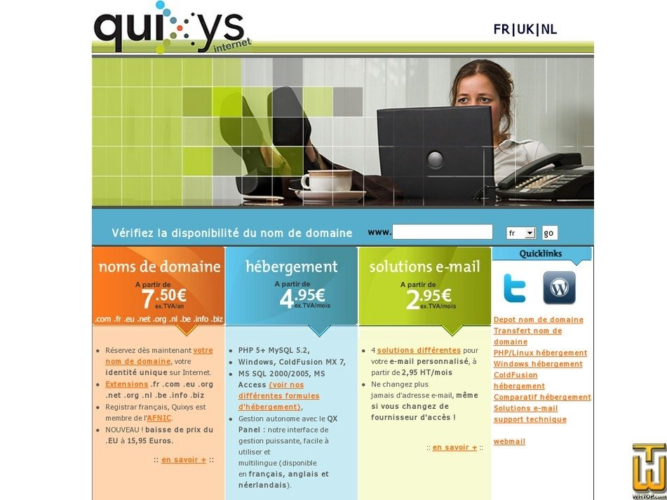 quixys-internet.com Screenshot