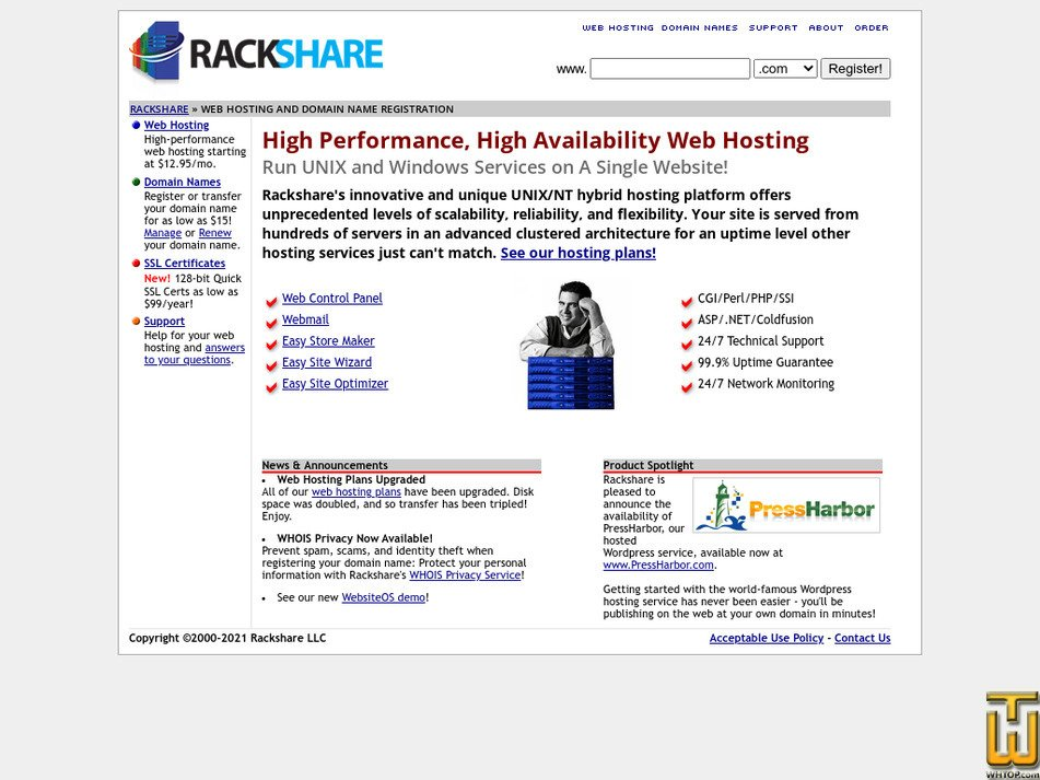 rackshare.com Screenshot