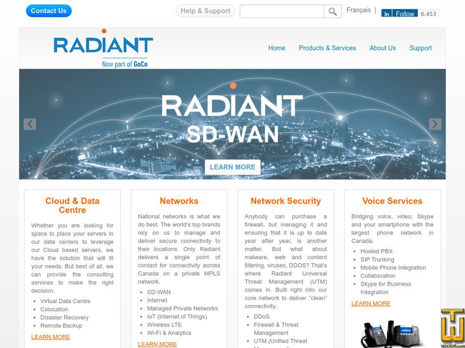 radiant.net Screenshot