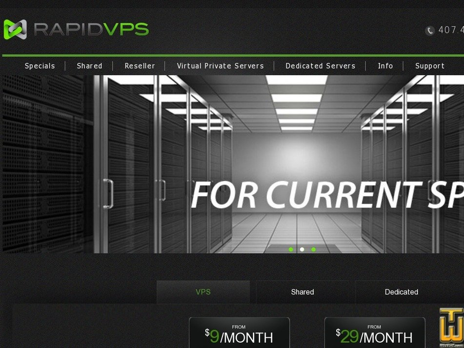 rapidvps.com Screenshot