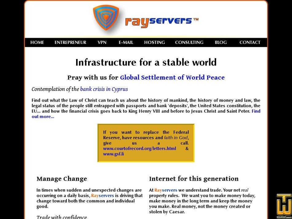 rayservers.com Screenshot