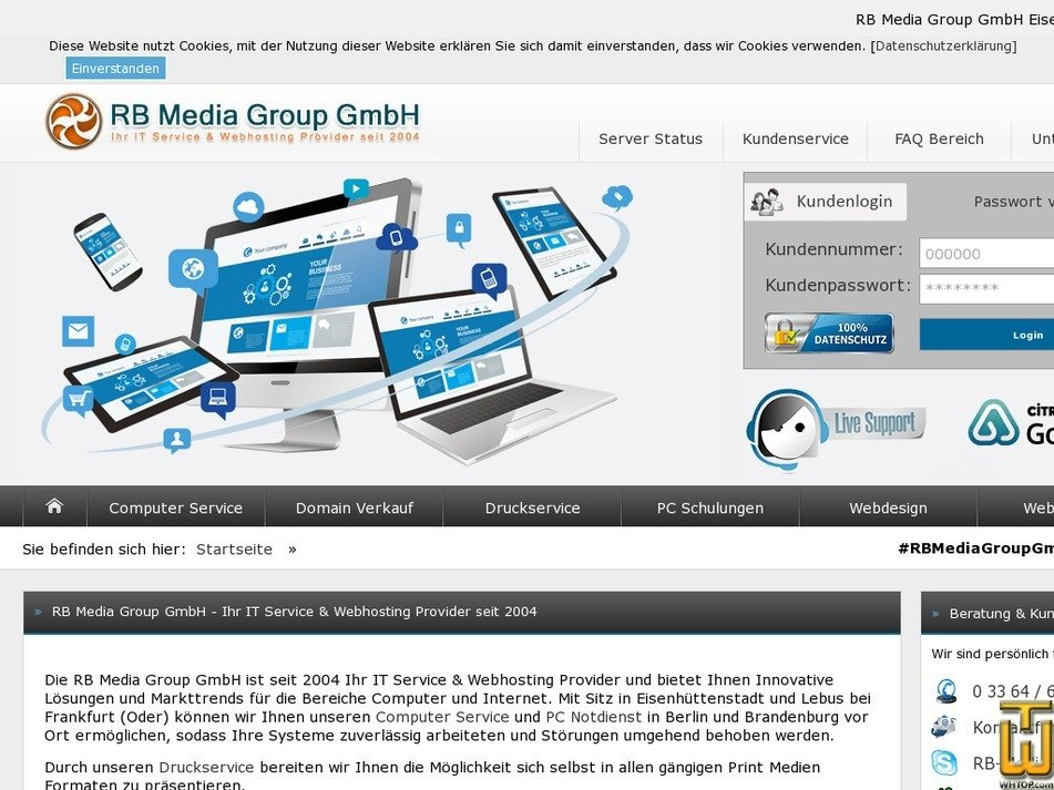 rb-media-group.de Screenshot