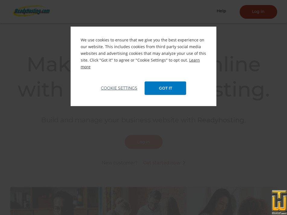 readyhosting.com Screenshot