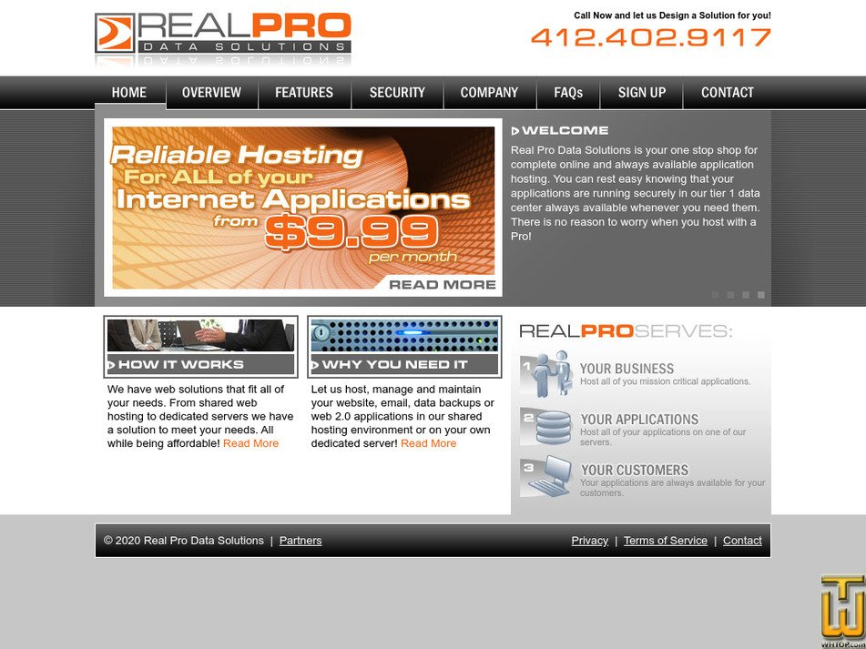realprodatasolutions.com Screenshot