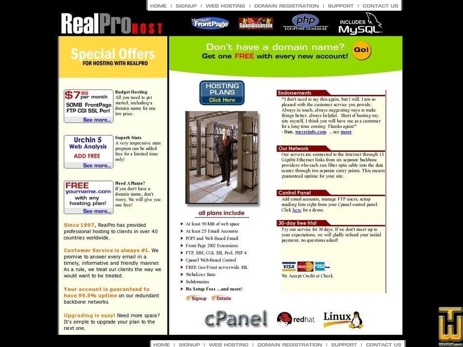 realprohost.com Screenshot