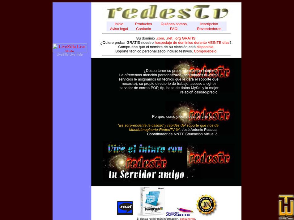 redestv.net Screenshot