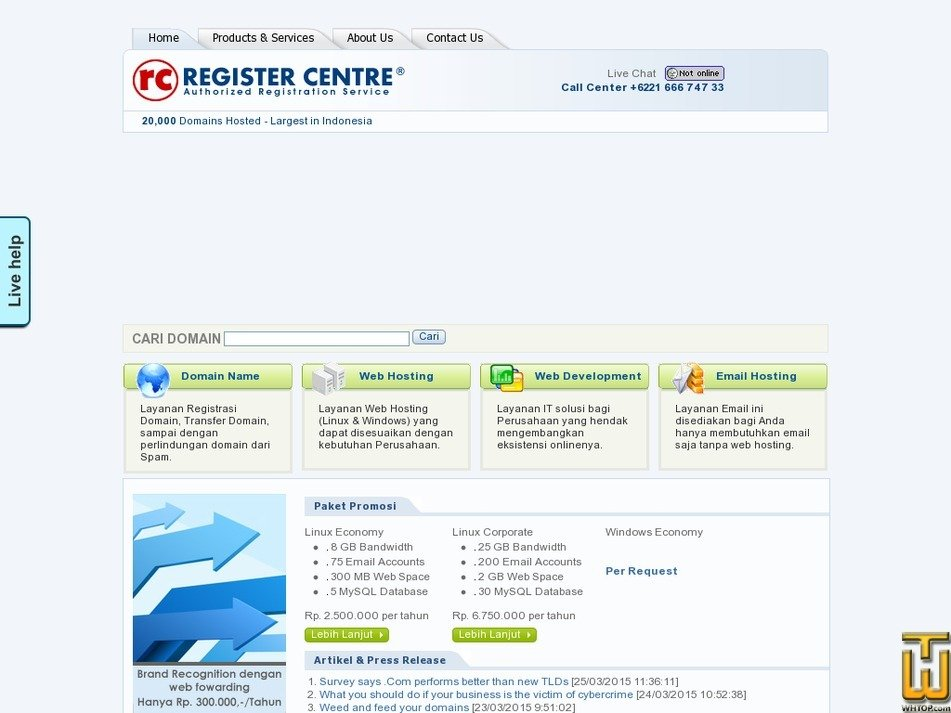 registercentre.com Screenshot
