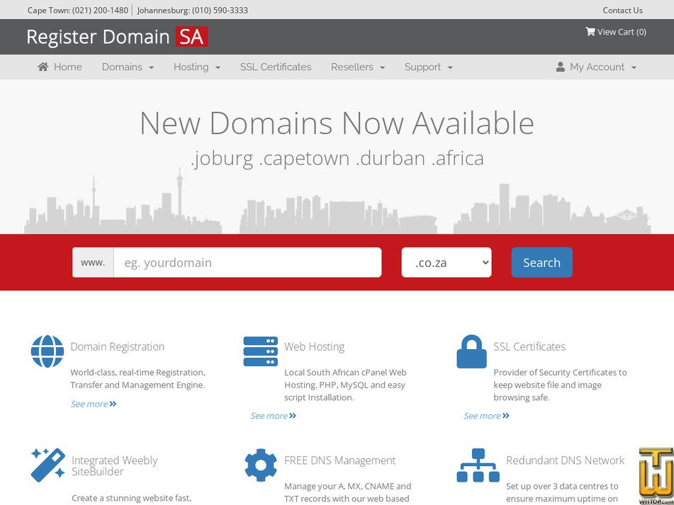 registerdomain.co.za Screenshot