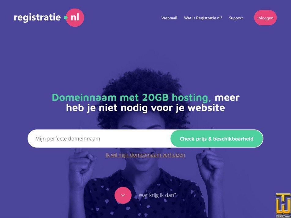 registratie.nl Screenshot