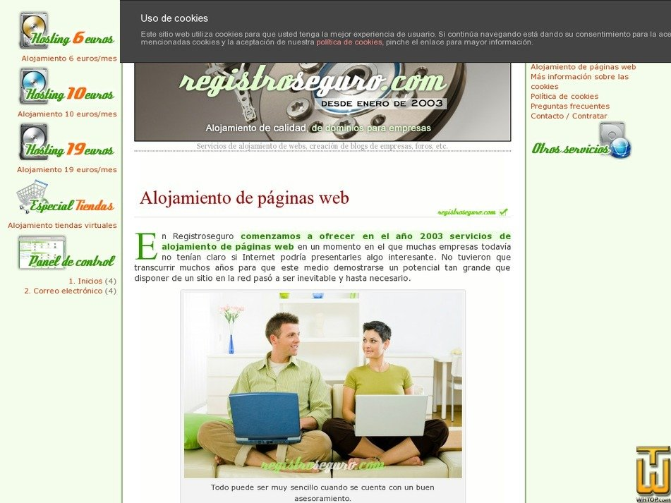 registroseguro.com Screenshot