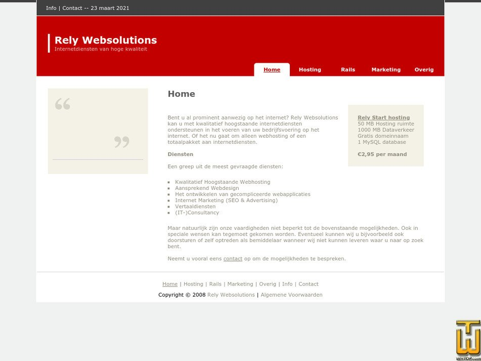 relywebsolutions.nl Screenshot