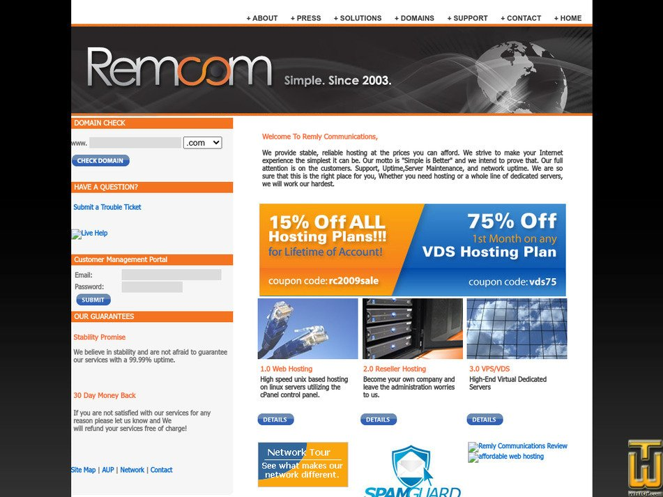 remcom.net Screenshot