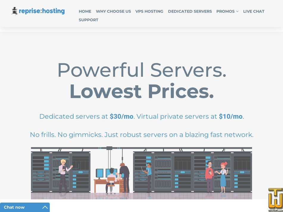 reprisehosting.com Screenshot
