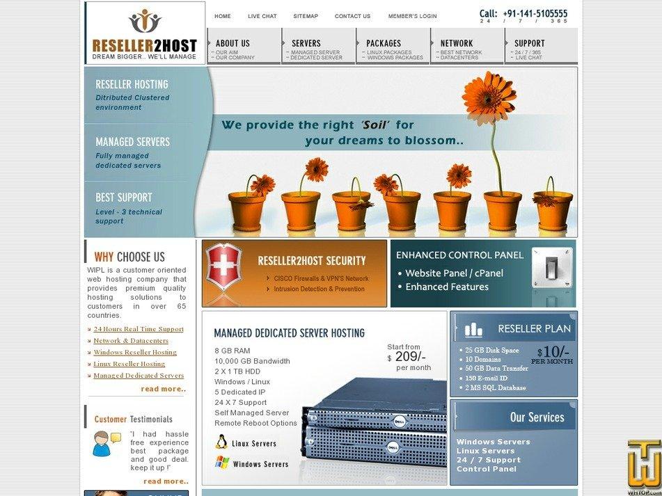 reseller2host.com Screenshot