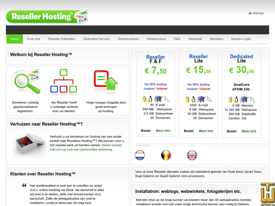 resellershosting.com Screenshot