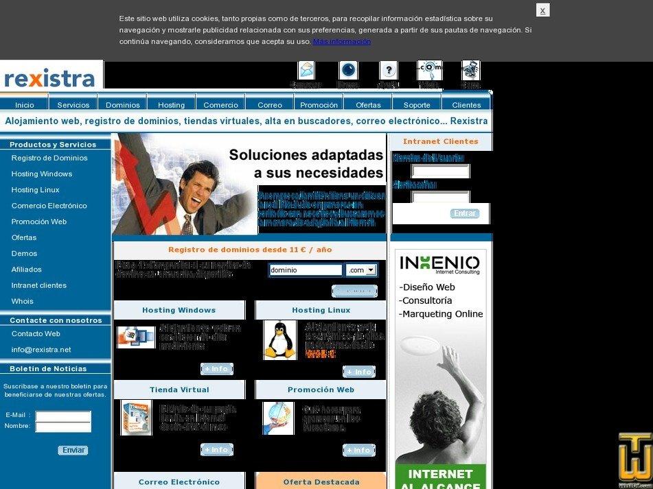 rexistra.com Screenshot