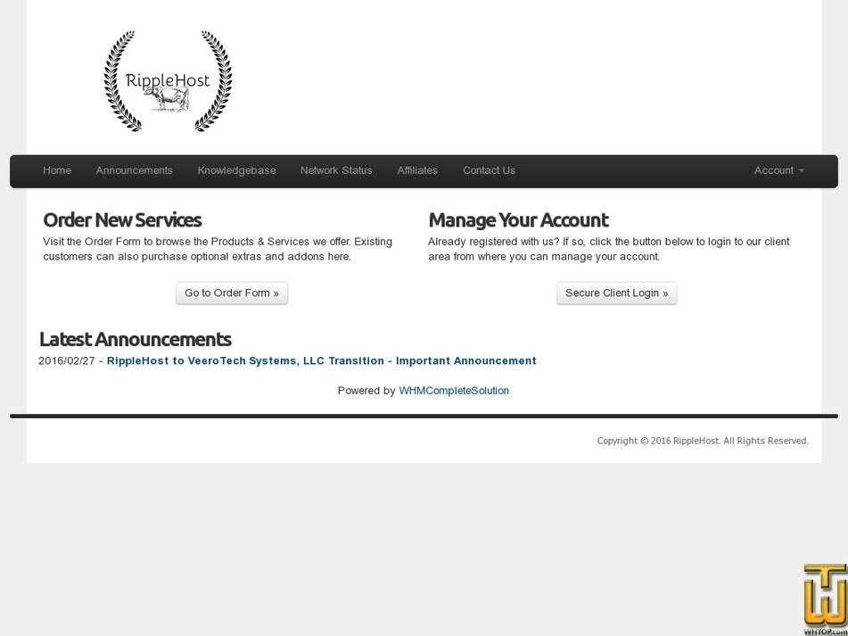 ripplehost.com Screenshot