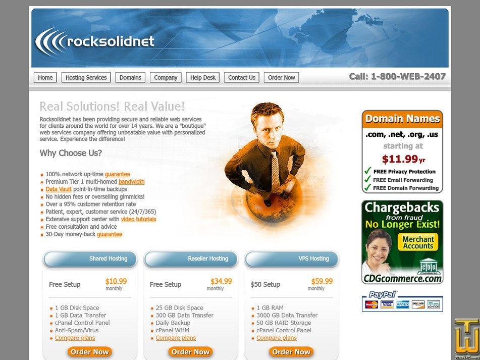 rocksolidnet.com Screenshot