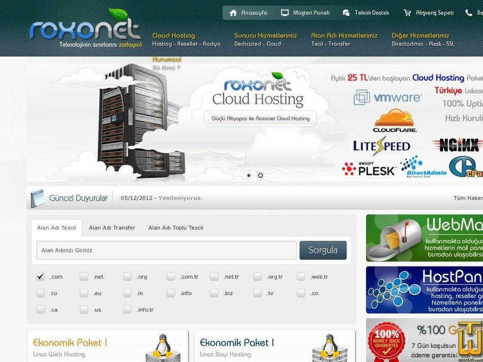 roxohosting.com Screenshot