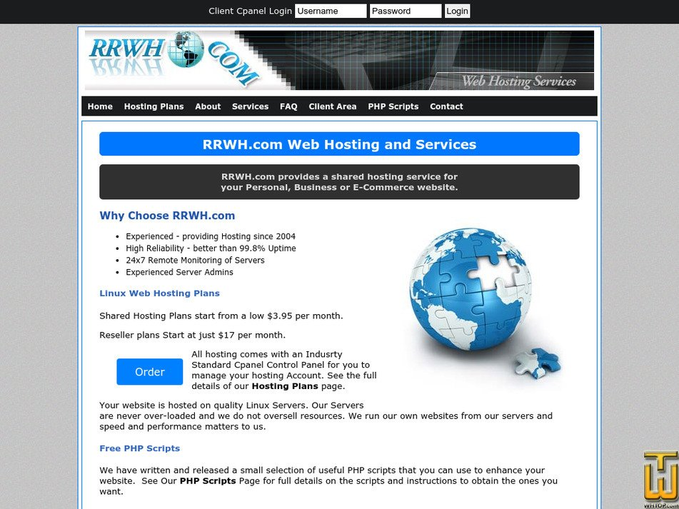 rrwh.com Screenshot